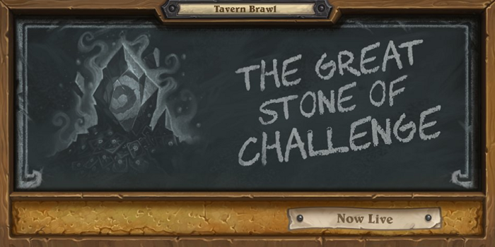 Hearthstone - Visszatér a The Great Stone of Challange Brawl
