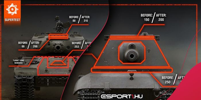 World of Tanks - Titánok felemelkedése - Buffot kap az E 100, az IS-4 és a T110E5 ága is